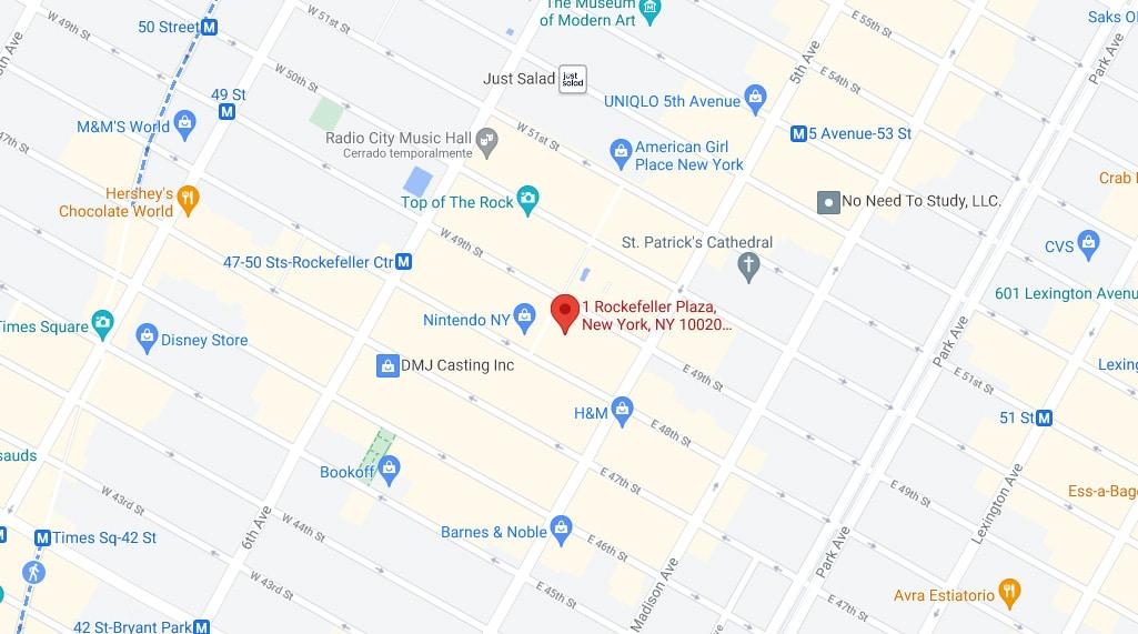 1 Rockefeller Plaza NY United States